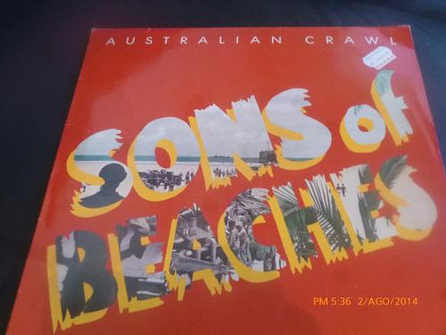 vinilo lp de sons of beaches  australian crawl (u364