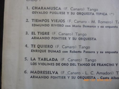 vinilo  lp de tango homenaje a canaro (u580