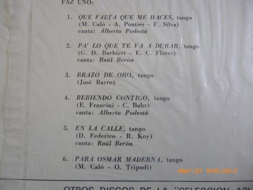 vinilo  lp de tango miguel calo y más (u581