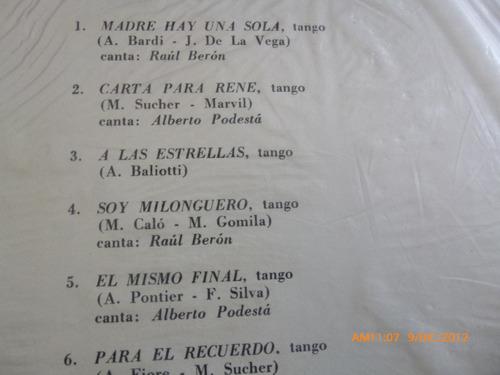 vinilo  lp de tango miguel calo,armando pontier,raul ber(715