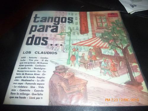 vinilo lp de tangos para dos -- los claudios (u487