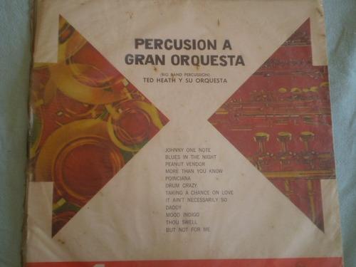 vinilo lp de ted heath percusion a gran orquesta (u926