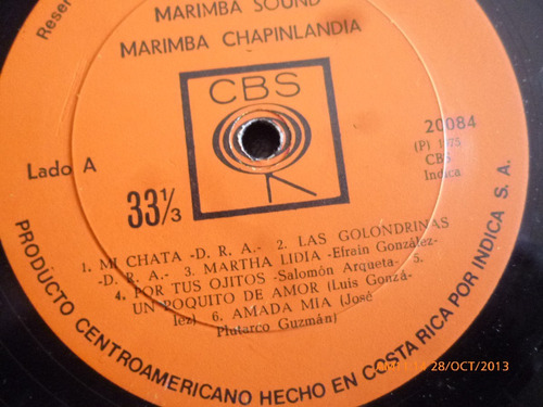 vinilo lp de  the guatemalan marimba sound (667)