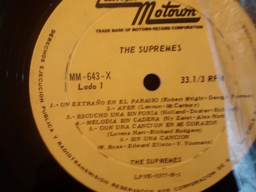 vinilo lp de the supremes - sin una cancion  (u144