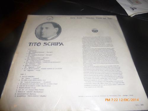 vinilo lp de tito schipa  --siciliana (966