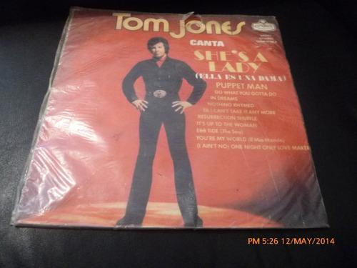 vinilo lp de tom jones  shes a lady ella es una  (998