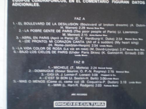 vinilo lp de tonny mottola  guitaras.... paris (u640