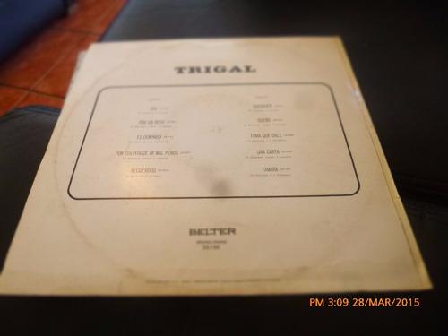 vinilo lp de trigal -- por un beso -(u1104