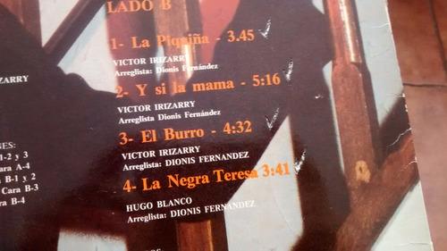 vinilo  lp de victor irizarry - sabor a merengue   (u947