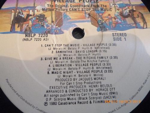 vinilo lp de village people - can't stop the music (u18