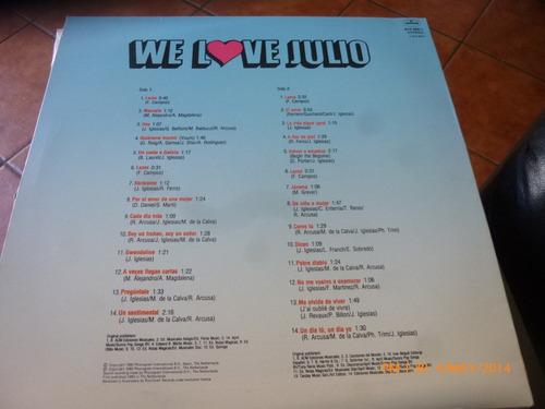 vinilo lp de we love julio  36 minutos medley (u909