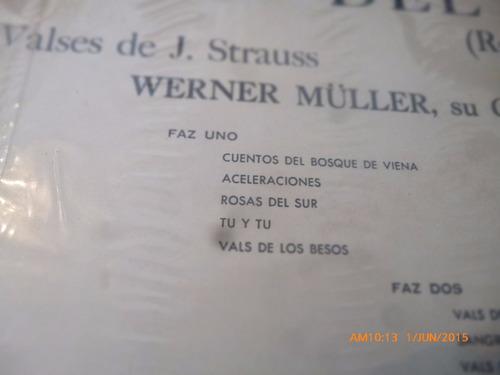 vinilo lp  de werner muller -- rosas del sur    (u1111