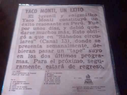 vinilo lp de yaco monti - un exito (1248