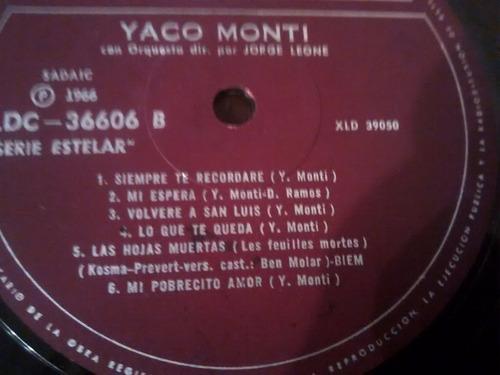 vinilo lp de yaco monti - un exito (u1151