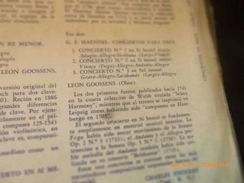 vinilo lp de yehudi menuhin - leon goossens - bach viv (u961