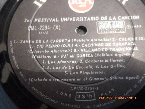 vinilo lp del 3er  festival universitario feuc 1965 (u603