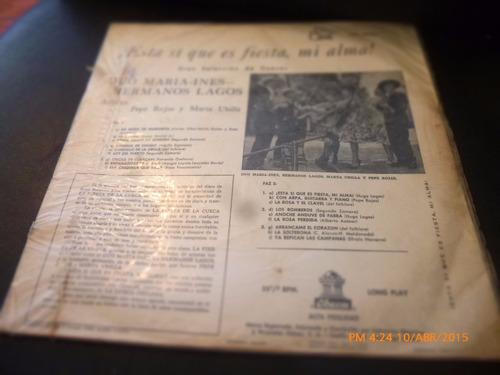 vinilo lp del duo maria ines hermanos lagos  (1324)