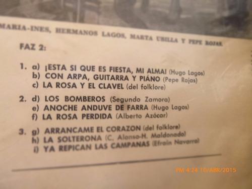 vinilo lp del duo maria ines hermanos lagos  (u1052