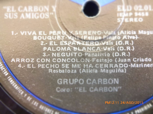 vinilo lp del grupo carbon  --el carbon y sus amigos (u1020