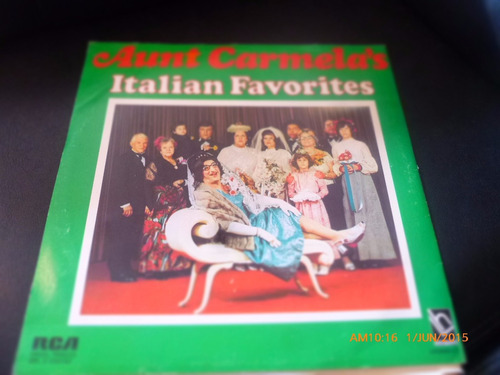 vinilo lp doble aunt carmelas -italian favorites (u956