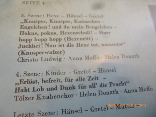 vinilo lp doble de hansel y gretel - engelbert hum  (562)