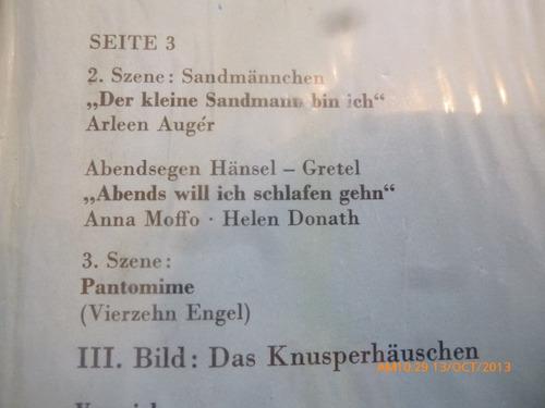 vinilo lp doble de hansel y gretel - engelbert hum  (u485