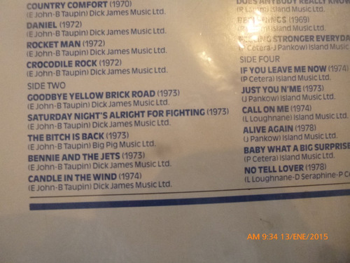 vinilo lp doble the history of rock vol  19 elton john (1126
