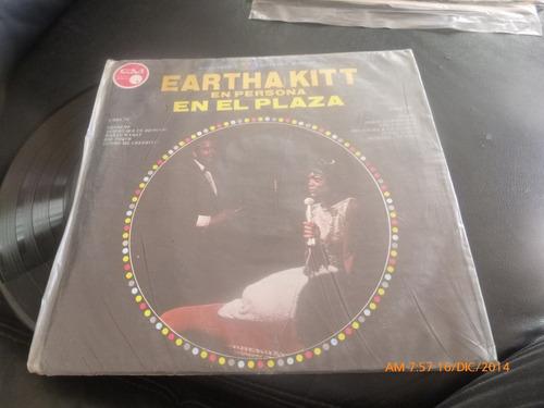 vinilo lp - eartha kitt --en persona en el plaza  (144)