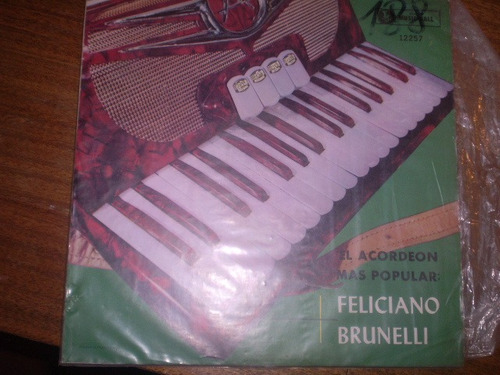 vinilo lp  feliciano brunelli el acordeon mas popular (u187