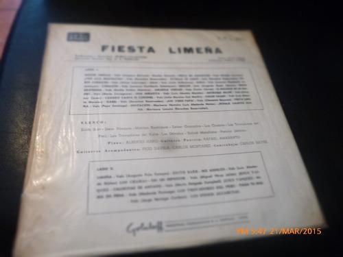 vinilo lp fiesta limeña --  noche criolla (u497