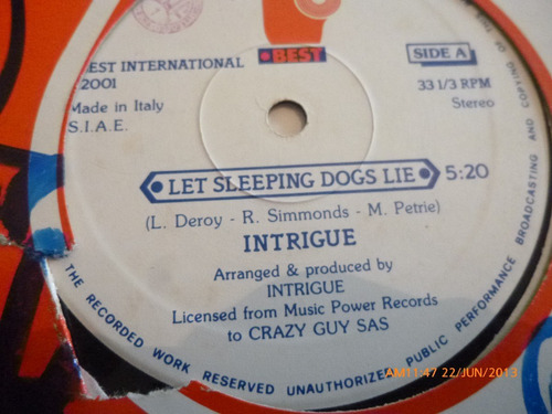 vinilo lp  intrigue  -like the way you do it (lp495
