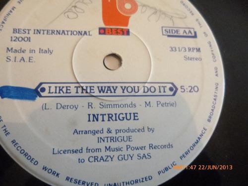 vinilo lp  intrigue  -like the way you do it (u355