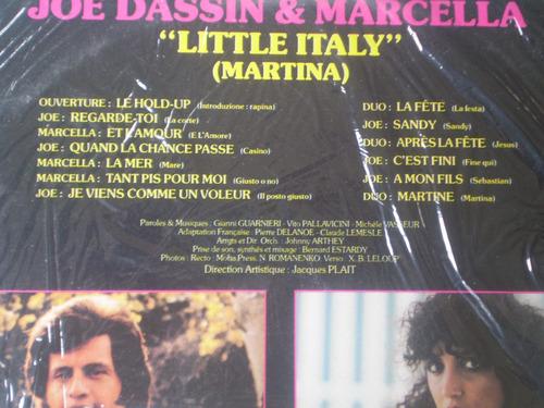 vinilo lp  joe dassin- marcella  little  italy (u22