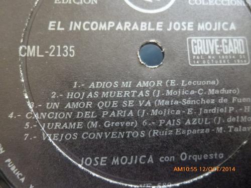 vinilo lp  jose mojica  -el incomparable  (u137