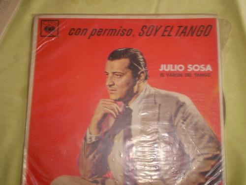 vinilo lp julio sosa con permiso soy el tango (lp100