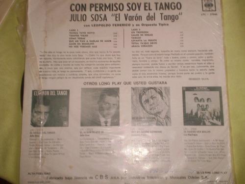 vinilo lp julio sosa con permiso soy el tango (u100