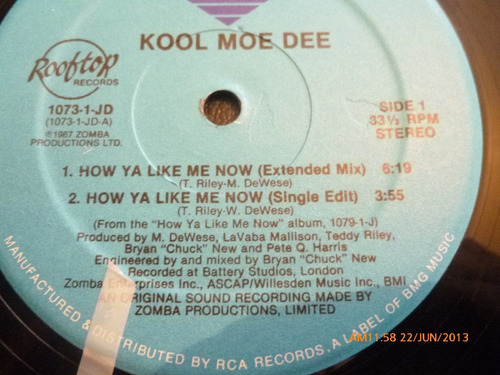 vinilo lp  kool moe dee  -how ya like me now (u439