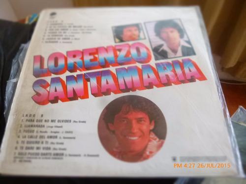 vinilo lp  loranzo santamaria -- lo mejor  (u1094