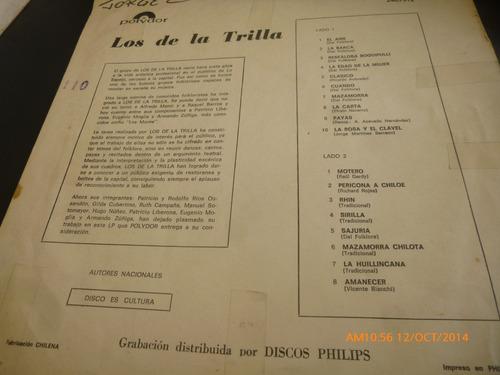 vinilo lp los de trilla -- pericona  chiloe (u158