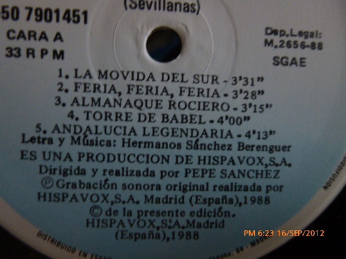 vinilo  lp los guadalquivir (206)