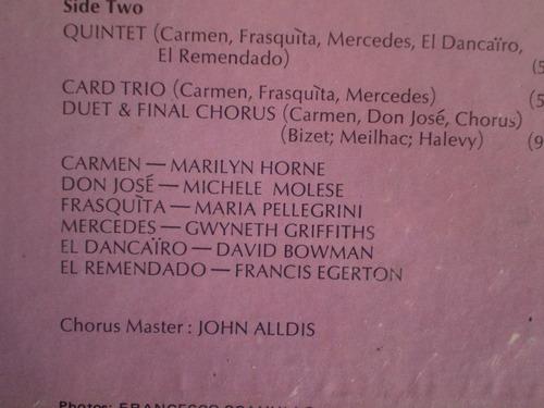 vinilo lp  marilyn horne  sings carmen ( g.bizet) (u705
