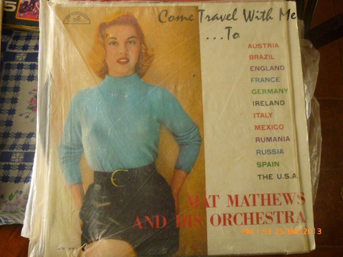 vinilo lp  )mat mathews and his orchestra (837