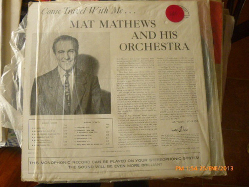 vinilo lp   mat mathews and his orchestra (u765