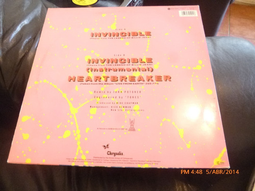 vinilo lp max single  de pat benatar - invincible- heea(u806