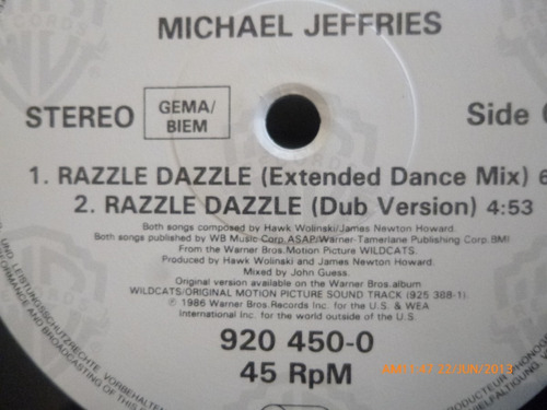 vinilo lp  michael jeffries razzle dazzle  -half time (523