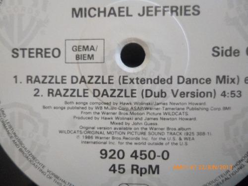 vinilo lp  michael jeffries razzle dazzle  -half time (u435