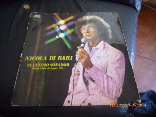 vinilo lp   nicola di bari  --el ultimo soñador (919 )