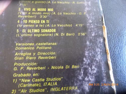 vinilo lp   nicola di bari  --el ultimo soñador (u816