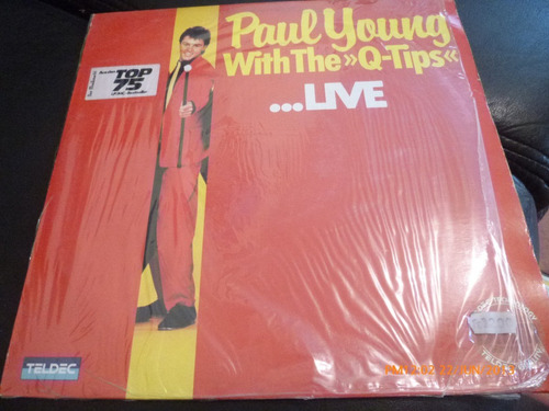 vinilo lp  paul young whitthe q tips  come black live (510)