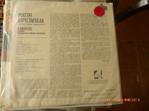 vinilo lp  puccini espectacular   (795)